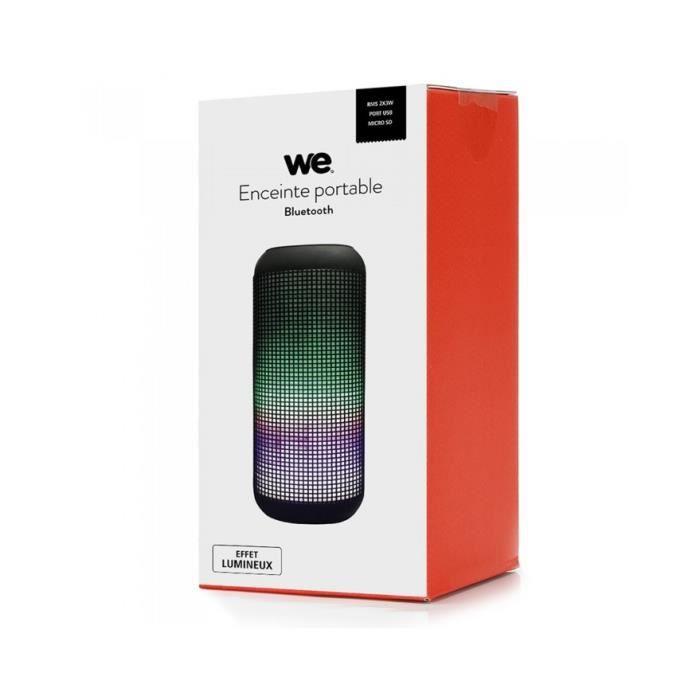 Enceinte bluetooth portable WE - WEENCBTUSBN Noir