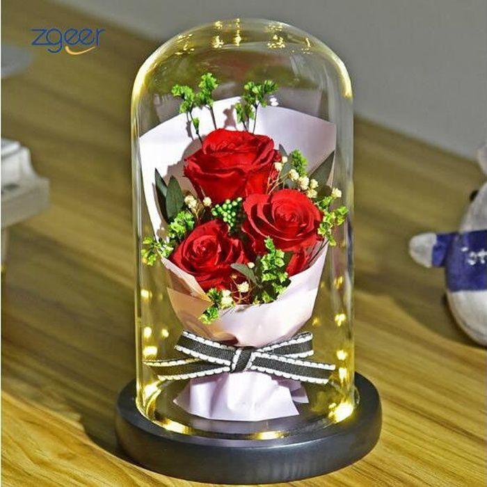 La 3 rouges Rose Eternelle pour Saint-Valentin Fête Anniversaire Mariage