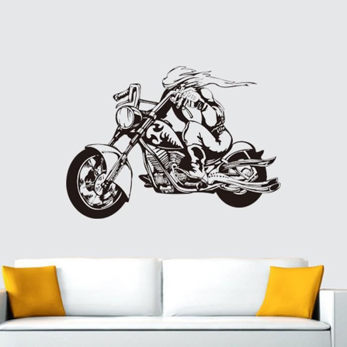 stickers motos chambre achat vente stickers motos chambre pas cher cdiscount. Black Bedroom Furniture Sets. Home Design Ideas