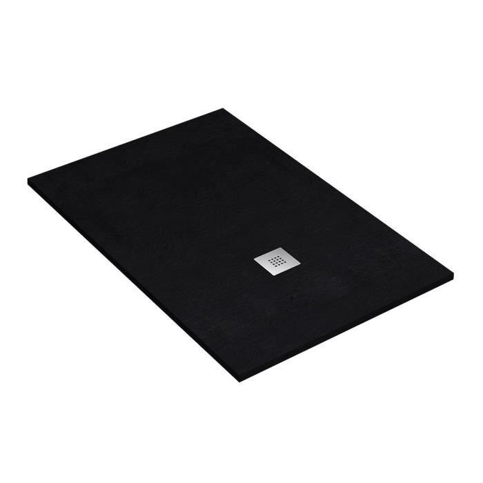 RECEVEUR DE DOUCHE Receveur de Douche en Ardoise 100 x 140 cm. Noir