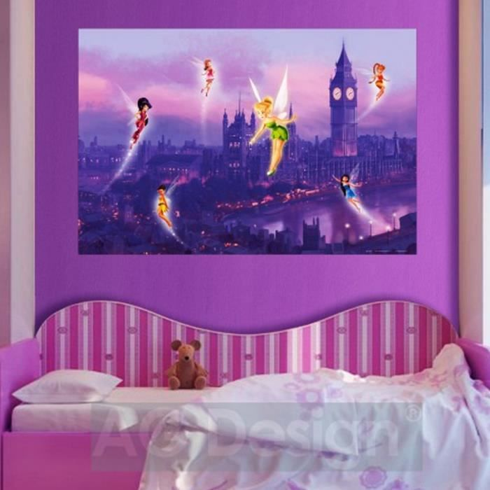 poster xxl f e clochette londres disney fairies achat vente affiche poster cdiscount. Black Bedroom Furniture Sets. Home Design Ideas