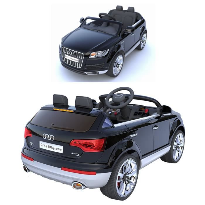 audi q7 voiture lectrique noire avec t l commande. Black Bedroom Furniture Sets. Home Design Ideas