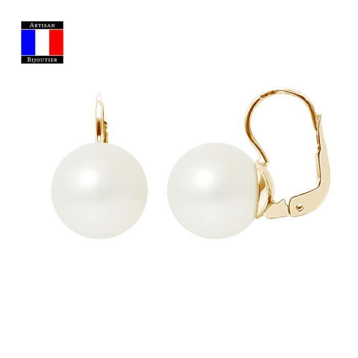 Boucle d'oreille Boucles d'Oreilles - Véritables Perles de Culture