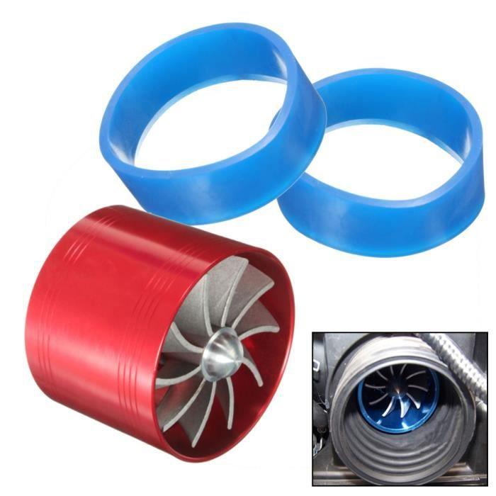 Bleu R Ventilateur dadmission pour la voiture SODIAL Double turbine