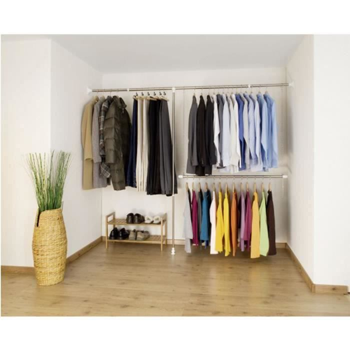 Ensemble de 3 pcs de garde robe t lescopique en achat vente amenagement - Barre de penderie ikea ...