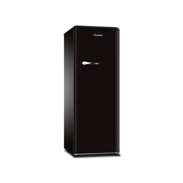 radiola refrigerateur 1 porte 200l vintage noir r frig rateur. Black Bedroom Furniture Sets. Home Design Ideas