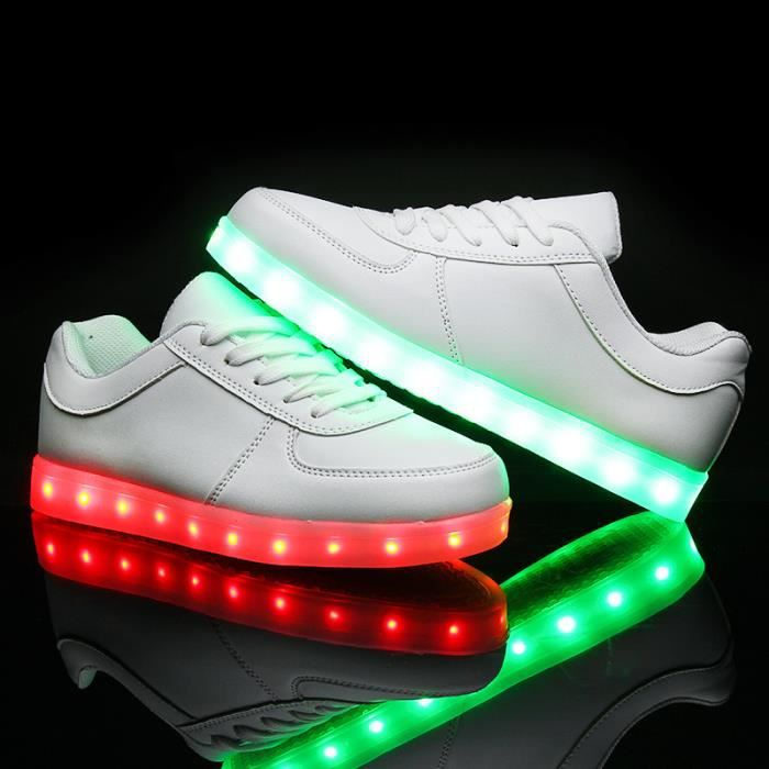 Korean Mode chaud chaussures 7 Couleu Enfants USB Charge LED Lumineux Chaussures de Sports Baskets Chaussures r8HUL6