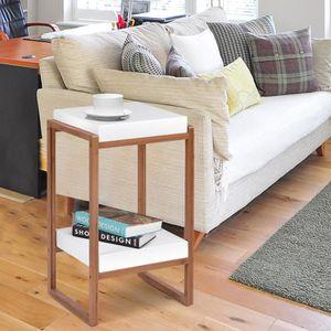 TABLE D'APPOINT Bout de Canapé Table d'Appoint Contemporainavec E