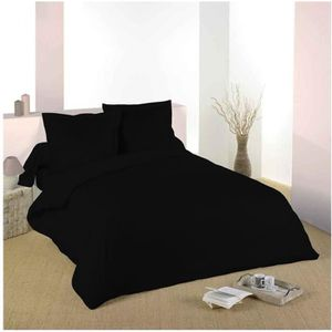 HOUSSE DE COUETTE SEULE Housse de couette Noir 220 x 240 cm / 100% Coton /