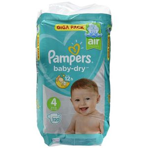 COUCHE Pampers Baby Dry, Taille 4, 9–14kg, Mega Plus Pac