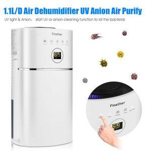 DÉSHUMIDIFICATEUR Finether 1.1L Déshumidificateur Portable d'Air Séc