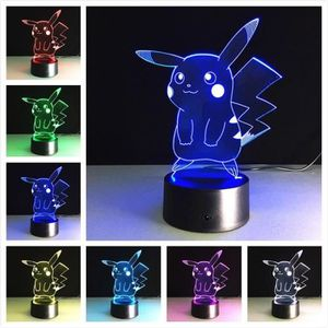 LAMPE A POSER Pokemon Go Pikachu Figurines 3d Lampe De Table Jou
