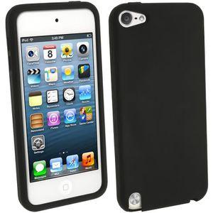 COQUE MP3-MP4 igadgitz Noir Étui Housse Silicone pour Apple iPod
