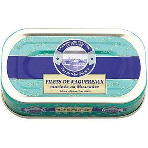 AUTRE CONSERVE POISSON Filets de maquereaux marinés au Muscadet.