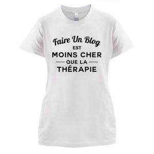 T-SHIRT Dressdown T-shirt  Faire un blog est moins cher qu