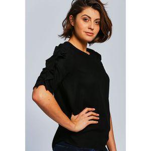 T-SHIRT Vero Moda T-shirt Femme - SEATTLE FRILL 2-4 TOP_BL