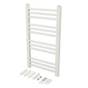 SÈCHE-SERVIETTE EAU Radiateur sèche-serviettes blanc 700 x 400 mm / TL