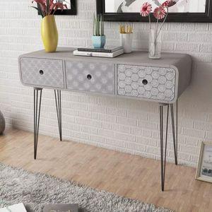 CONSOLE Table Console-Table d'entrée-Table de Salon avec 3