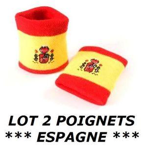 POIGNET ÉPONGE LOT 2 Bracelets poignet éponge 100% coton ESPAGNE