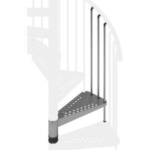 RAMPE - MAIN COURANTE Kit marche supplémentaire en acier galvanisé pour