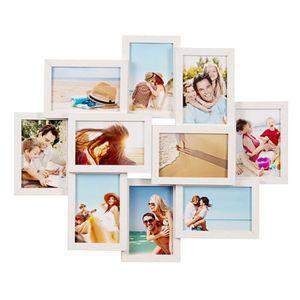 Cadre photo 9 photos galerie de photos Noir ou Blanc 45x45cm collage photo Galerie