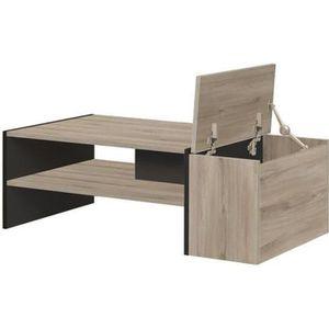 TABLE BASSE YORI Table basse bar - Style industriel - Décor ch