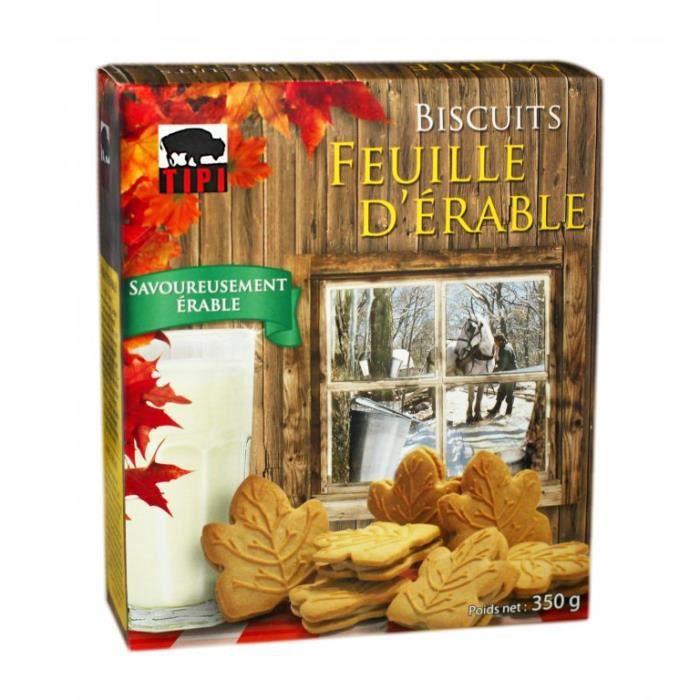 Biscuits fourrés à la crème d'érable 350g - TIPI