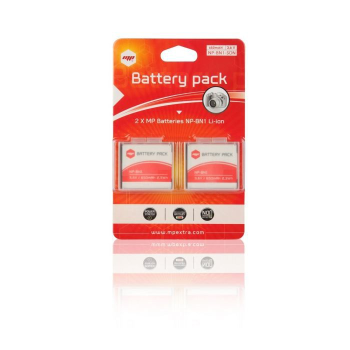 2 x batteries NP-BN1, NPBN1 pour SONY - MP EXTRA®