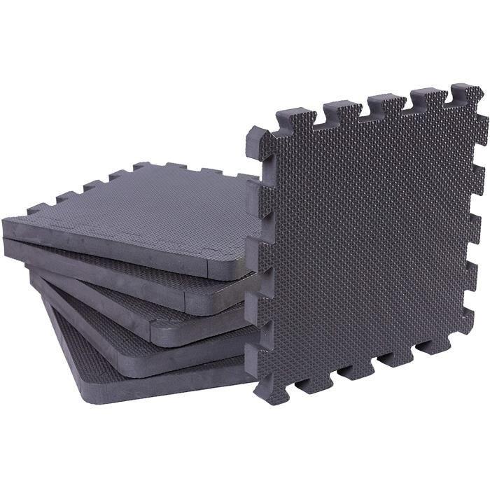 BodenMax Tapis de Protection en Mousse EVA - Dalles en Mousse avec Bordures - Tapis de Sport, Yoga, Musculation, Gym143