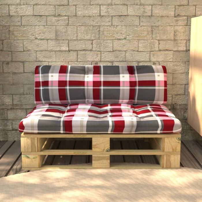 Ergonomique Banc palette de jardin Terrasse Balcon Patio Moderne - Meuble d'Extérieur Canapé palette Sièges de jardin ®EGTYNY®