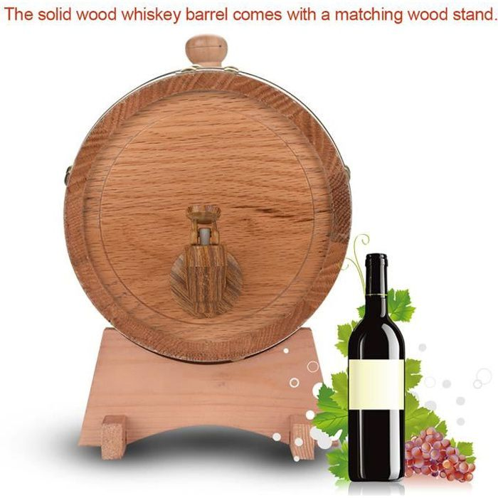 1.5/3/5/10L Fût /Tonneau/Tonneaux Bois Chêne Ancien Pour Bière Whisky Rhum Set