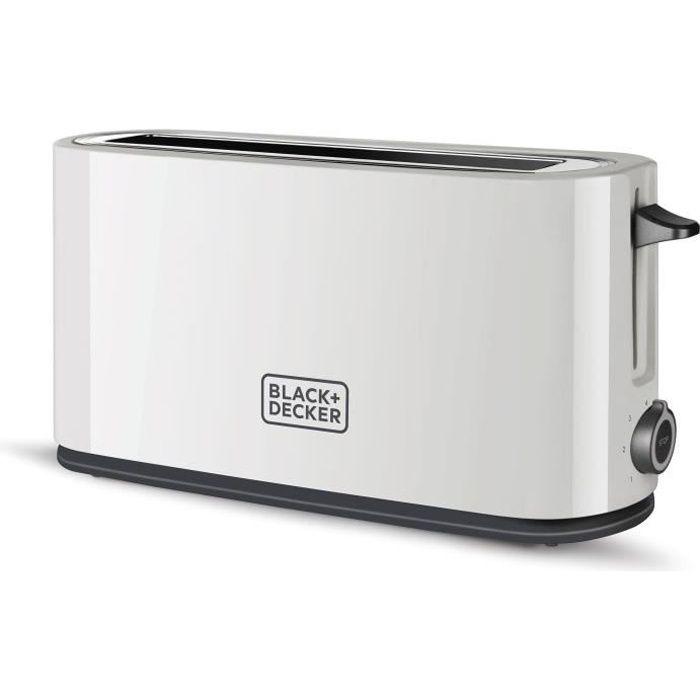 BLACK & DECKER BXTO1001E Grille-pain 1 000 W - Fente XL - Blanc