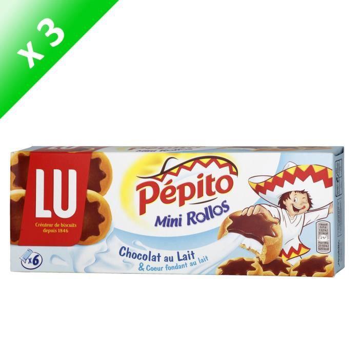 [LOT DE 3] Mini rollos lait 225 g Pépito