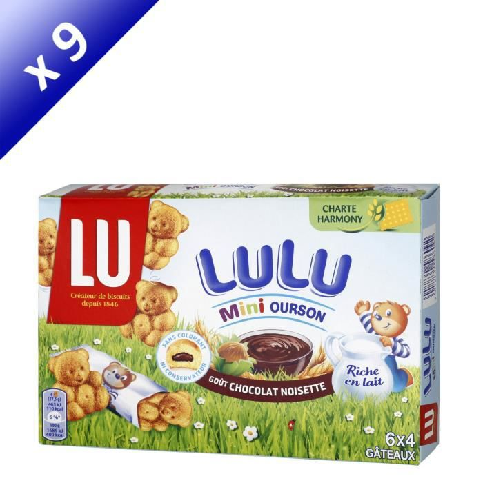 Lot de 9 LU Mini ourson chocolat - 165 g