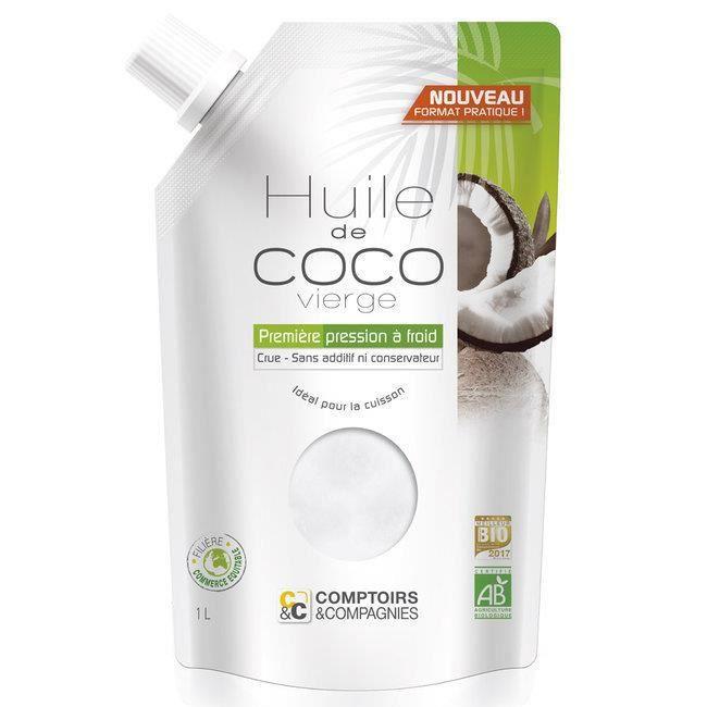 Comptoirs et Compagnies - Huile de coco vierge bio - Doypack 1 litre