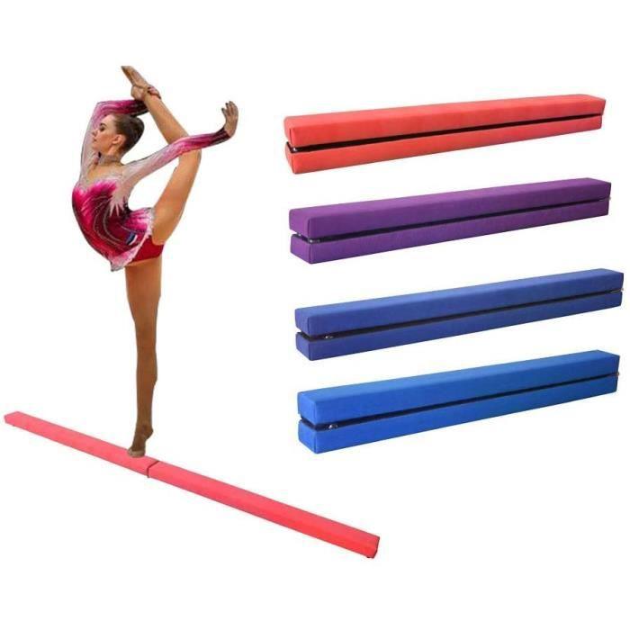 Dripex 210cm Poutre d'équilibre de Gymnastique Pliante Enfants Formation Poutre pour l'exercice de Gym à Domicile-Rose