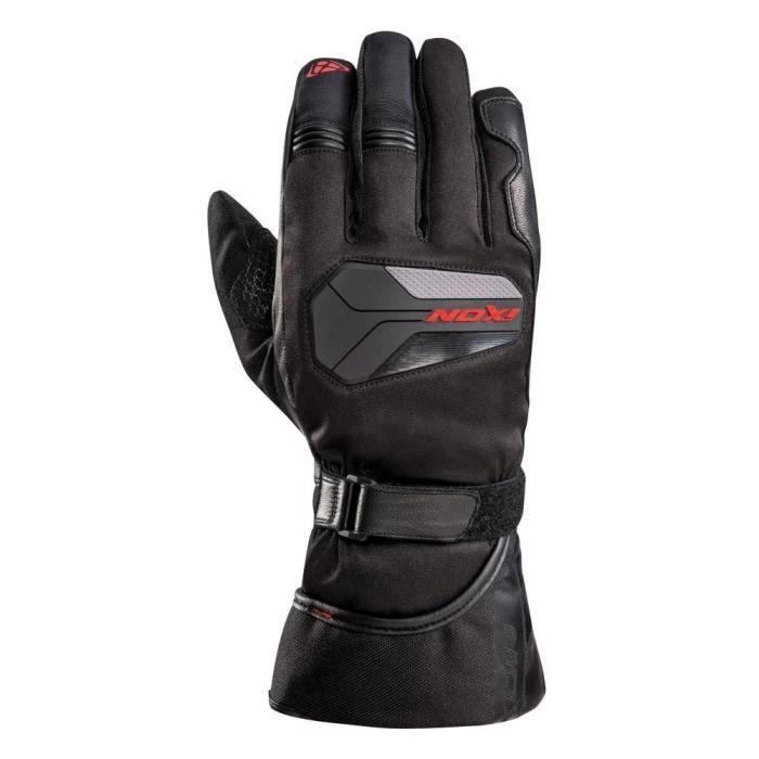 IXON Gants moto Pro Atom - Homme - Noir et rouge