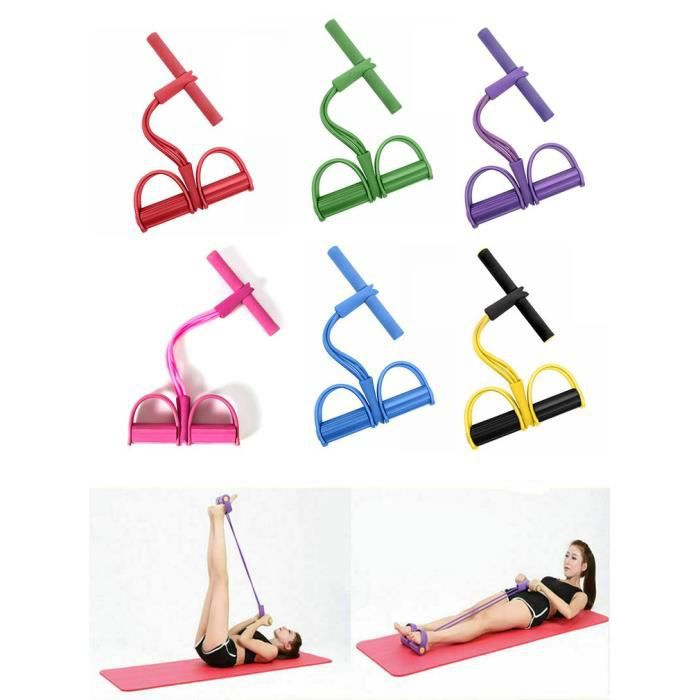 Bande de résistance fitness musculation yoga pour traction élastique sport gymnastique - rouge