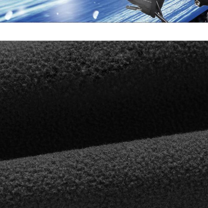 1 paire d'hiver gants coupe-vent chaud vélo main garde extérieur mitaine pour homme femme (noir)