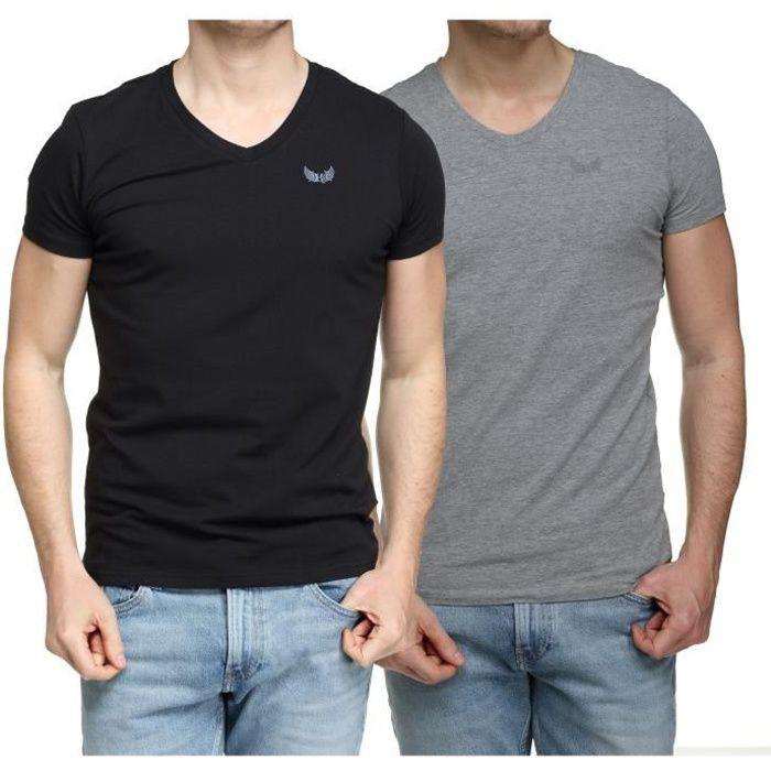 Tee Shirt Kaporal Gift E21 Pack X2 Col V Black ...