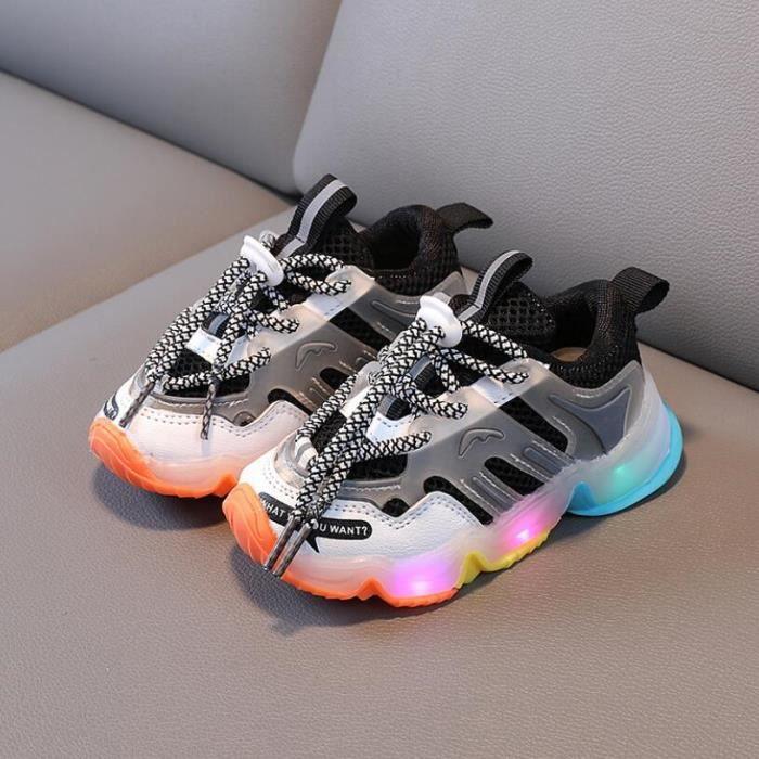 Chaussures de Sport lumineuses pour enfants, baskets de course, pour Garçonss et filles, avec lumières clignotantes, nouvelle colle