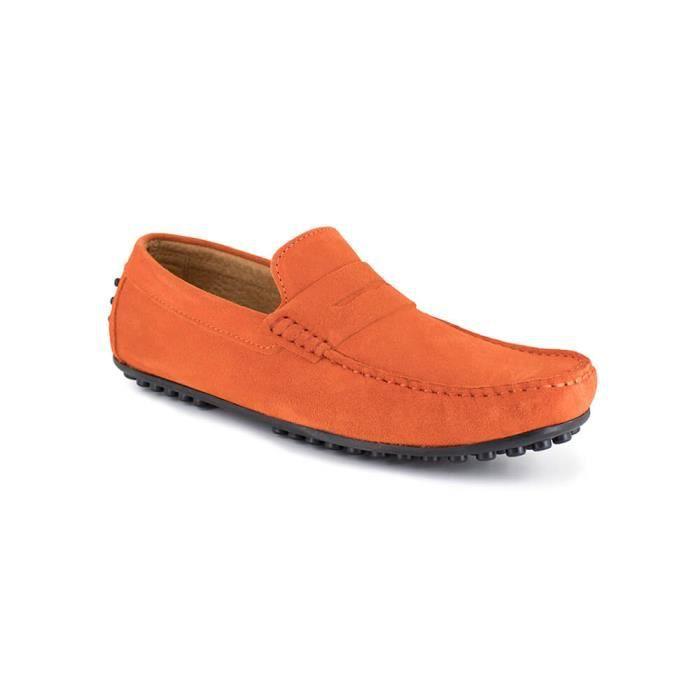 Mocassin Homme J.Bradford Cuir Orange JB-ROBE