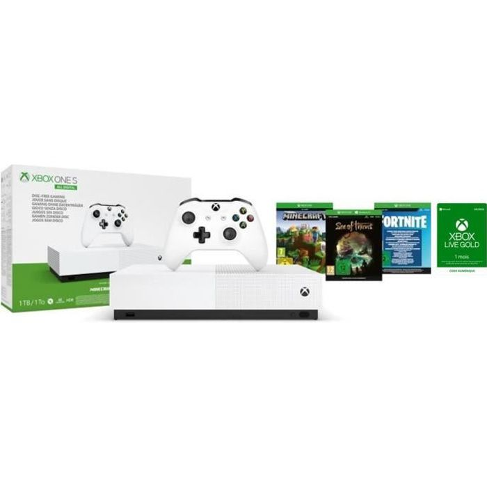Xbox One S All Digital + 3 jeux