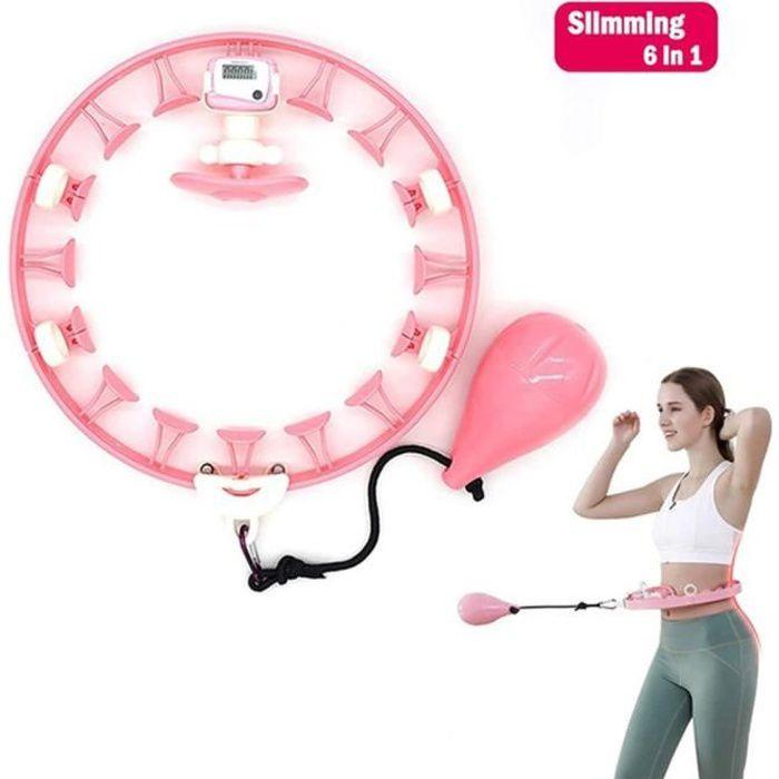 Cerceau de fitness pour adulte - Réglable - Large - Avec picots de massage et pièces amovibles pour Mince taille, massage musculair