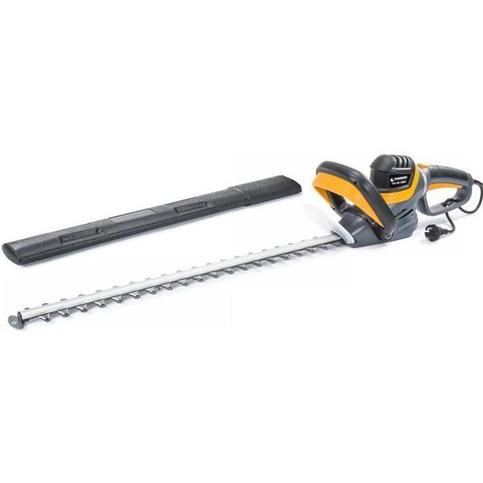 Taille-haie électrique acier 1800W 61 cm poignée rotative protège lame