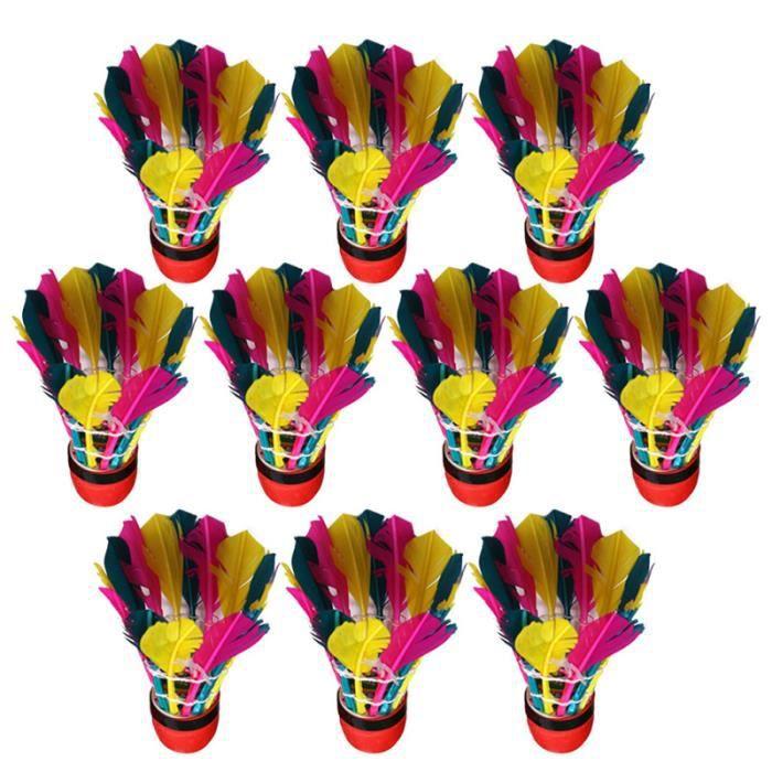 11 Pcs Tête Rouge Badminton résistant aux coups Goose Balles de badminton en plumes pour les activités de VOLANT DE BADMINTON