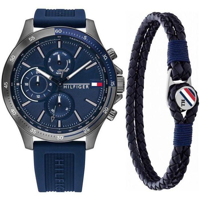 Tommy Hilfiger - Montre Hommes - Quartz Multi-Cadrans - Bracelet Silicone Bleu - 2770086