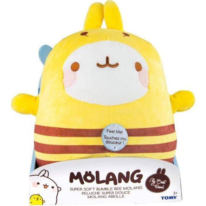 MOLANG Peluche Super Douce Molang Abeille