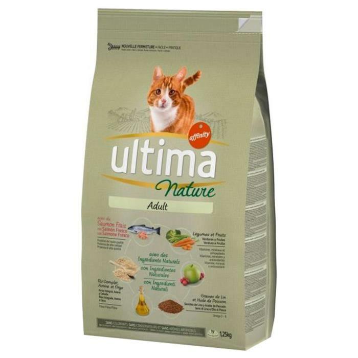 Ultima Nature Croquettes Chat Adult Saumon 1,25Kg (lot de 3)
