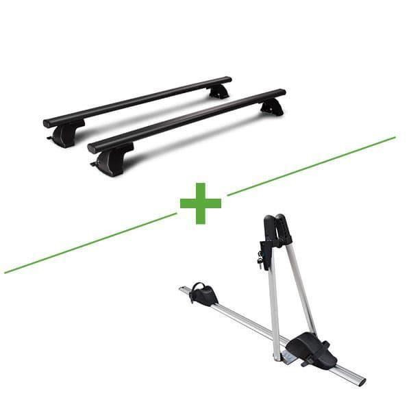 Pack barres et porte vélo WABB Freedom Acier + Asso pour Volkswagen Golf Plus V 5 portes - 3666028105058